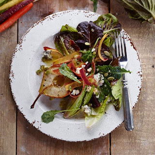 Harvest Salad with Blue Cheese and Roasted Pears
