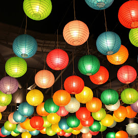 Colorful Paper Lamps by Bambang Setiawan - Artistic Objects Other Objects ( paper lamps, , Urban, City, Lifestyle )