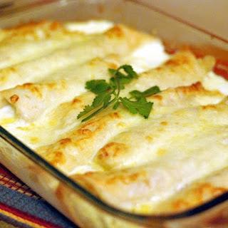 Caramelized Onion & Cream Cheese Chicken Enchiladas (Adapted Recipe Source)