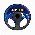Stop text icon
