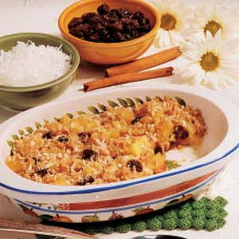 Pineapple Raisin Crisp