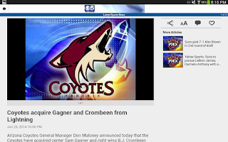 Screenshot of CBS5AZ.com