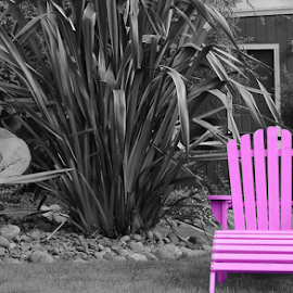 by Jeanne Knoch - City,  Street & Park  Neighborhoods ( selective color, pwc )