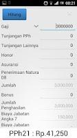 Screenshot of PPh 21 Tax Calculator