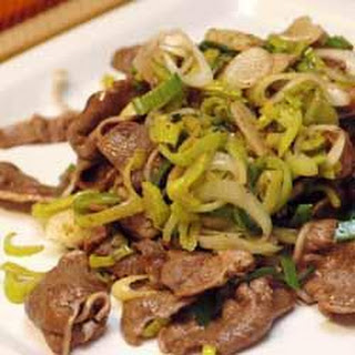 Beef Tongue Stir Fry