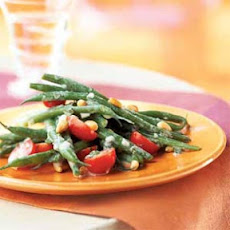 Haricots Verts and Grape Tomato Salad with Crème Fraîche Dressing