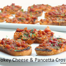 Smokey Cheese & Pancetta Crostini