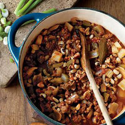 Pork and Black-Eyed Pea Chili