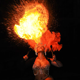 A Breath Of Flames by Howy De Abreu - People Musicians & Entertainers ( fire dancer )