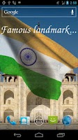 Screenshot of 3D India Flag Live Wallpaper +