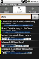 Screenshot of Clear Sky Droid (free)