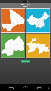 World Country Map Shapes Quiz - screenshot
