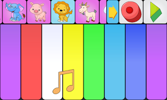 Screenshot of Animal sounds piano for kids