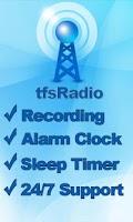 Screenshot of tfsRadio Jamaica