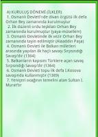 Screenshot of Osmanlı Tarihi İlkler Seçki