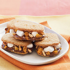 Hazelnut-Sugar Cookie S'mores