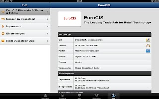 Screenshot of EuroCIS App