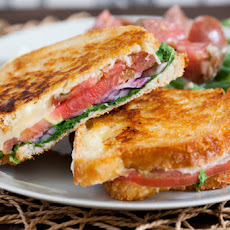 Heirloom Tomato & Fontina Grilled Cheese Sandwiches with Dijon Green Beans