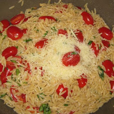 Tomato and Basil Orzo Salad