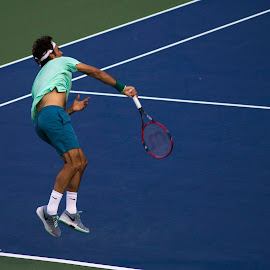 Federer in Action! by Hasan Mahmud Tipu - Sports & Fitness Tennis ( canon, fitness, rogerscup2014, toronto, sports, tennis )