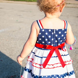by Magdalena Green - Babies & Children Toddlers ( little girl, red white and blue, independence day )