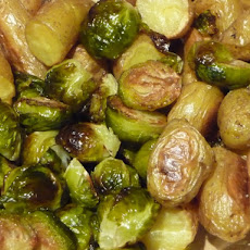 Brussels Sprout Potatoes Salad in Herb Dressing
