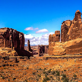 Down the middle by Stephen Smith - Landscapes Caves & Formations ( desert, suny, formations, western, rock, landscape, west )