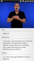 Screenshot of Svenskt Teckenspråkslexikon