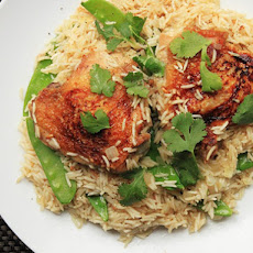Coconut Rice With Chicken Thighs