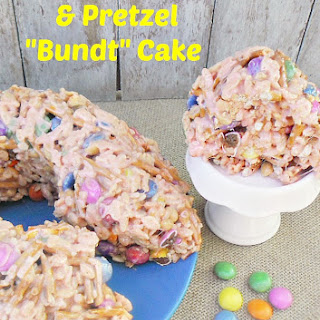 "Rice Krispie and Pretzel ""Bundt"" Cake"