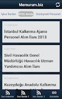 Screenshot of Memurum Kamu İş İlan Haberleri