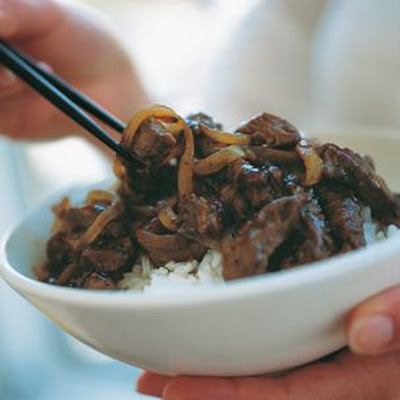 Beef with Ginger and Caramelized Onions