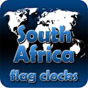 South Africa flag clocks icon