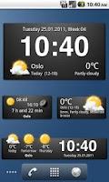 Screenshot of Weather widgets