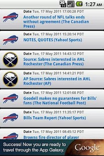Buffalo Sports Widget - screenshot