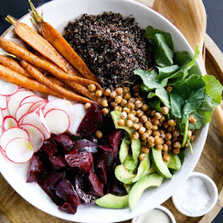 Root Vegetable & Quinoa Salad with Tahini-Maple Vinaigrette