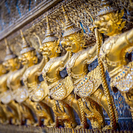 The golden Garuda by Krissanapong Wongsawarng - Buildings & Architecture Places of Worship ( bangkok, garuda, thailand )