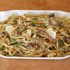 Fettuccine with Porcini and Pancetta Cream Recipe