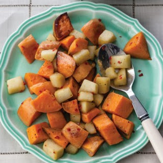 Roasted Sweet Potatoes with Apples & Chiles