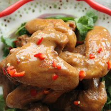 Crispy Thai Chicken Wings with Peanut Sauce