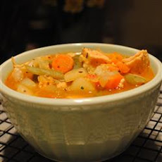 Lower Fat Chicken Vegetable Soup