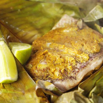 Banana-Leaf-Wrapped Snapper