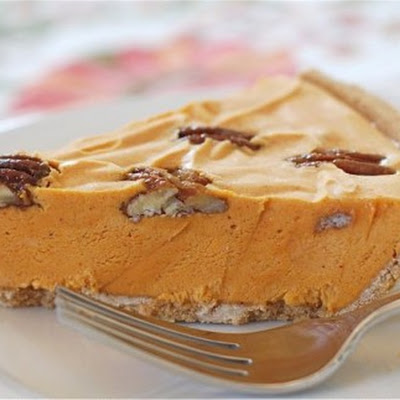 Pumpkin Ice Cream Pie with Maple Spiced Pecans