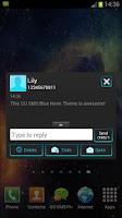 Screenshot of GO SMS Theme Blue Neon