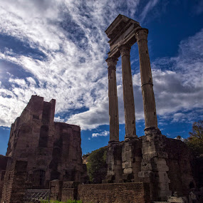 Temple of Castor and Pollux by Peter Greenhalgh - Buildings & Architecture Public & Historical ( temple, roman forum, rome, castor and pollux, italy )