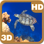 Turtle Swimming Coral Reef HD 1.5 Apk