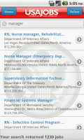 Screenshot of USAJOBS (beta)