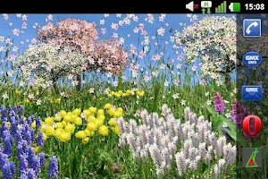Screenshot of Spring Flowers Live Wallpaper