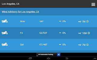 Screenshot of Motorcycle Weather