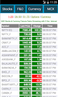 Screenshot of NSE MCX NCDEX Live MarketWatch